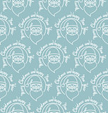 Stylish Merry Christmas seamless pattern with Santa Claus