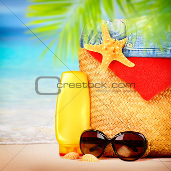 Beautiful beach items