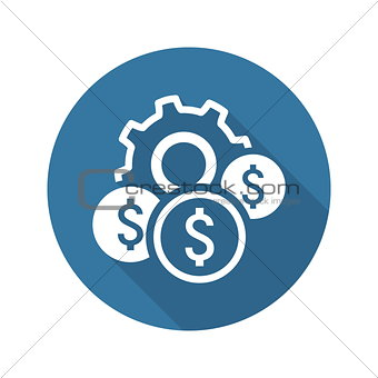 Costs Optimization Icon. Flat Design.