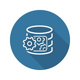 Data Processing Icon. Flat Design.