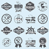 seafood labels and butcher shop