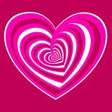 pink vector heart