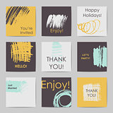 Abstract postcard templates