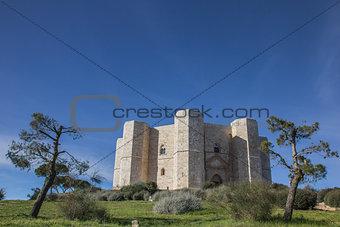 Castel Del Monte on a hilltop in Puglia