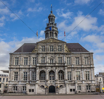 City hall on the central market square in Maastricht