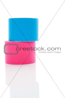 Kinesiotape isolated on white.