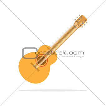 acoustic guitar icon flat style