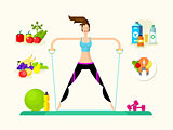 Woman healthy llifestyle