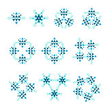 Vector Tribal ethnic ornaments. Flat decor elements .