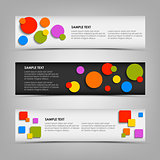 Abstract horizontal banners with colored rounds