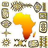 African symbols set