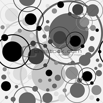 Circles and dots pattern