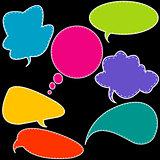 Colorful stitched speech bubbles
