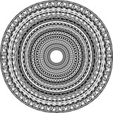 Round ornament with tribal motifs