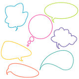 Stitched speech bubbles