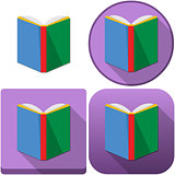 Colorful Book Icon Pack