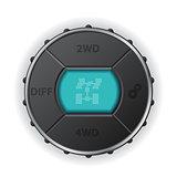 Digital differential control panel