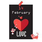 Festive beautiful poster for Valentines Day