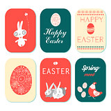 Happy Easter greeting cards set