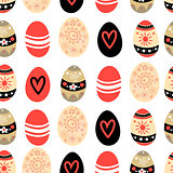 Easter pattern with eggs