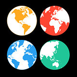 multi-colored Earth continents