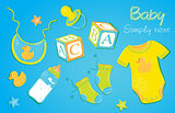 Baby clothes blue