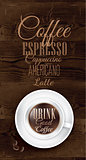 Poster coffee dark brown