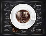 Poster coffee cup chalk