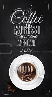 Poster coffee chalk