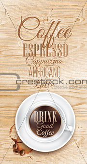 Poster coffee wood