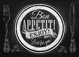 Bon appetit chalk