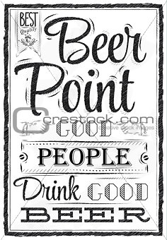 Poster beer point coal
