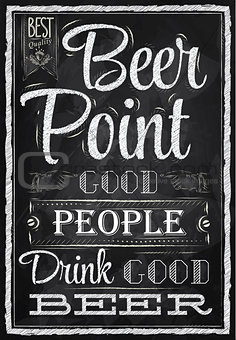 Poster beer point
