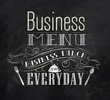 Business menu chalk