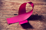 a pink ribbon, symbol of breast cancer awareness