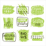 Bio Food Green Lables Set