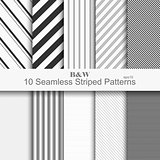 10 seamless striped patterns