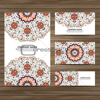 Business card template in native style
