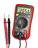Red-black digital multimeter