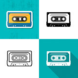 Vector music cassette tape icon
