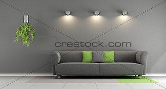 Gray contemporary living room