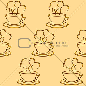 Background, cup with a hot drink