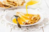 Thin Pancakes with Orange Sauce (Crepe Suzette)