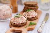 Smoked Salmon, Cream Cheese, Dill and Horseradish Pate on Slices
