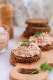 Smoked Salmon, Cream Cheese, Dill and Horseradish Pate on Rye Br