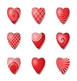 Heart icons. Design elements set for Valentine's day.