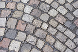 Wet Cobblestone texture Background