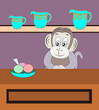 Monkey Selling  refreshment