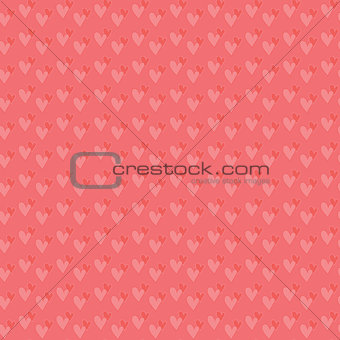 Pair of hearts seamless background.