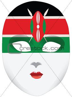 A symbolic mask of Kenya